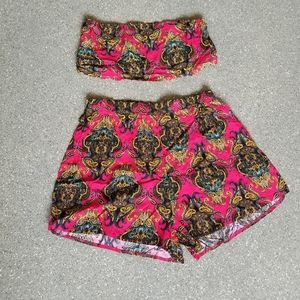 Two piece tube top set